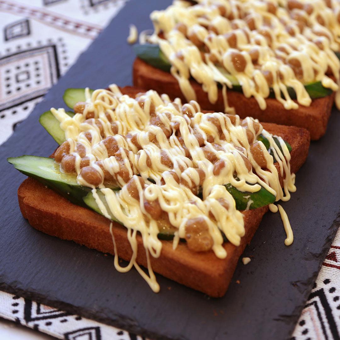 トースターで簡単、7分で完成「納豆トースト」