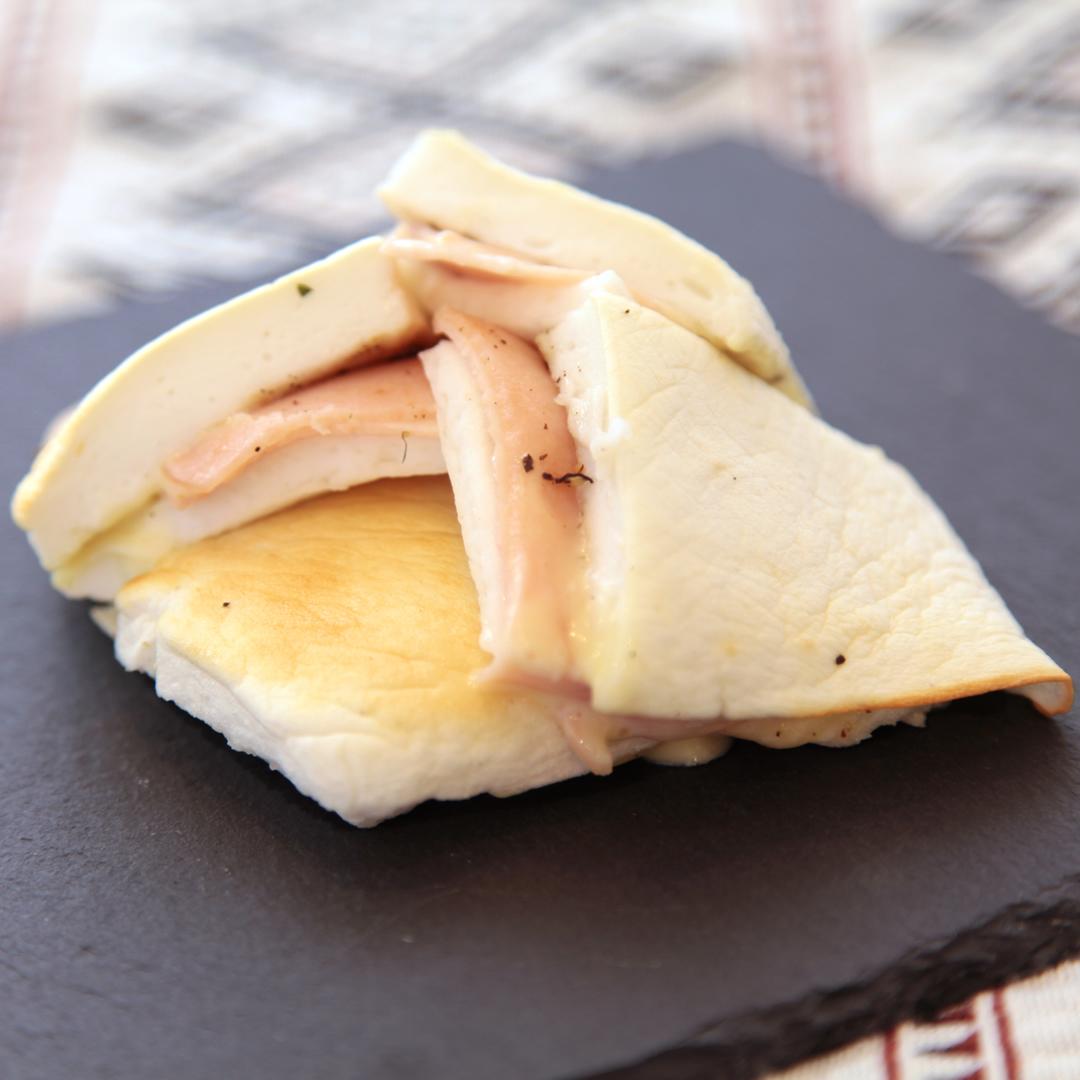 トースターで簡単、10分で完成「はんぺんのハムチーズ焼き」