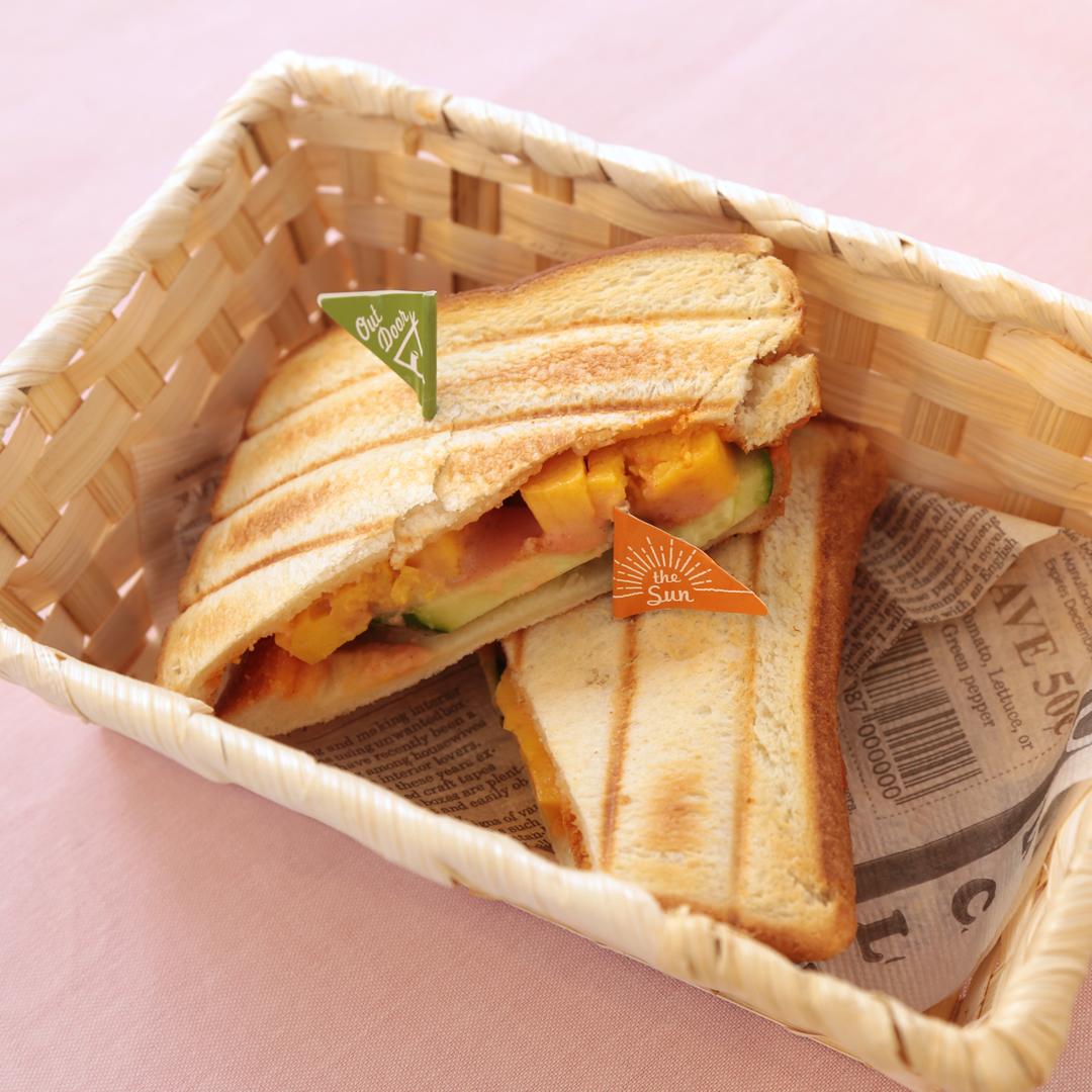 ホットサンドメーカーで簡単、10分で完成「なつかしの大阪卵サンド」