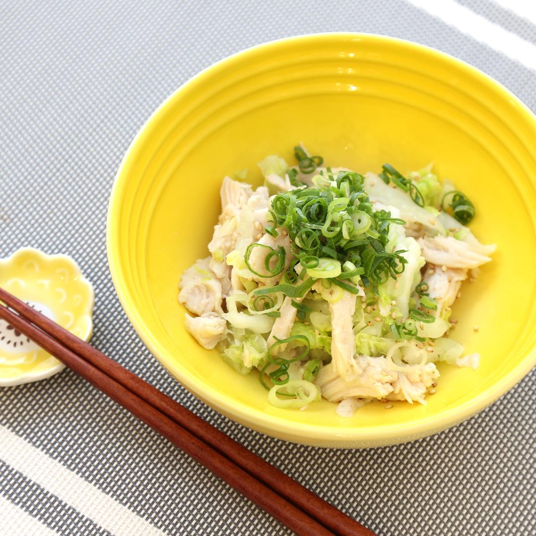 レンジで簡単、10分で完成「白菜とサラダチキンのあっさりうまい酒蒸し」