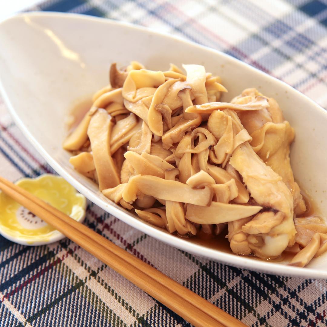 レンジで簡単、調理時間は7分「手羽元とエリンギの煮付け」@ズボラ飯
