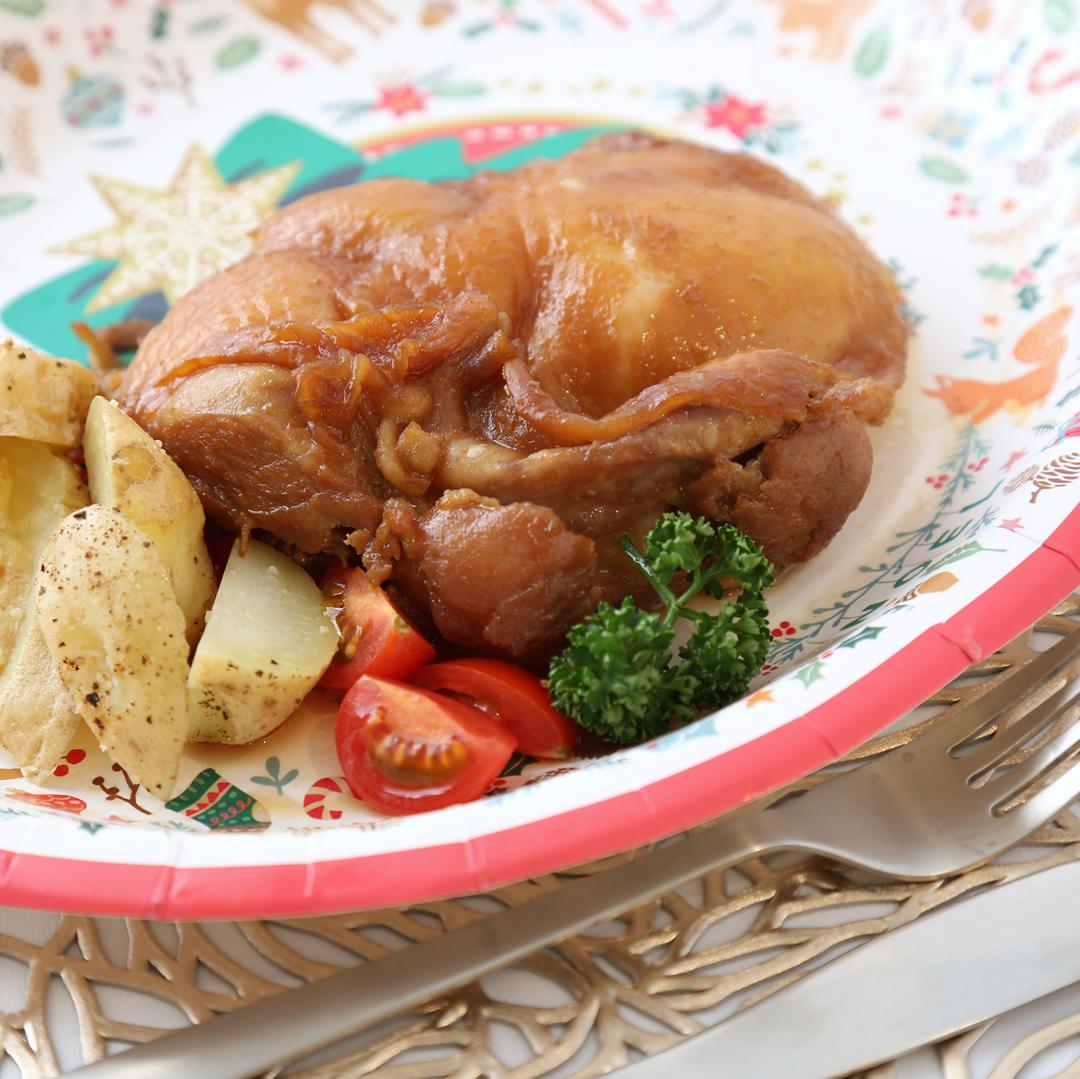 レンジで簡単、調理時間は5分「チキンの和風ロースト」@ズボラ飯