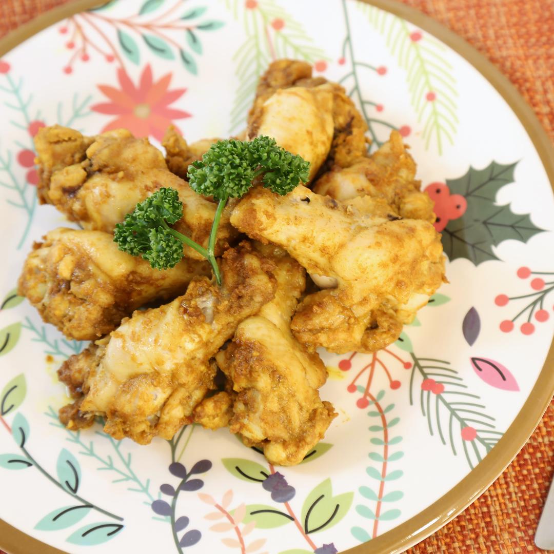 レンジで簡単、調理時間5分「鶏手羽元のカレーロースト」@ズボラ飯