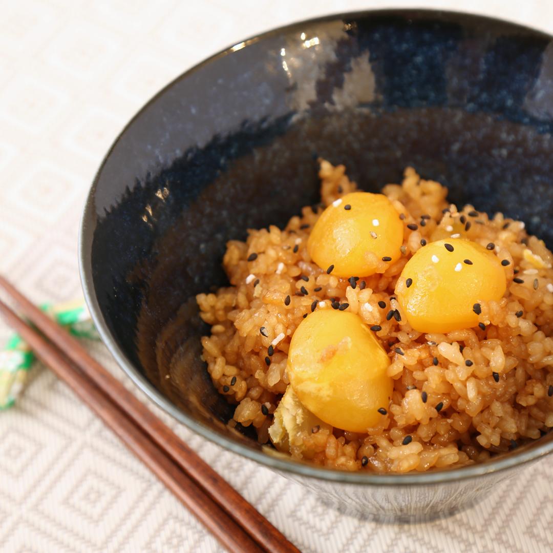 炊飯器で簡単、調理時間5分「くり甘露煮の炊き込みご飯」@ズボラ飯