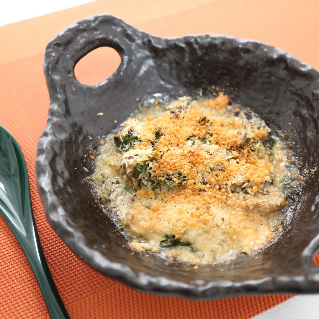 トースターで簡単、10分で完成「サバ水煮缶のパン粉チーズ焼き」@ズボラ飯