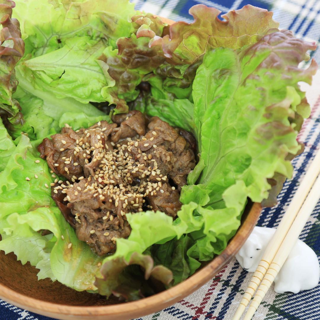 レンジで簡単、5分で完成「焼き肉サラダ」@ズボラ飯