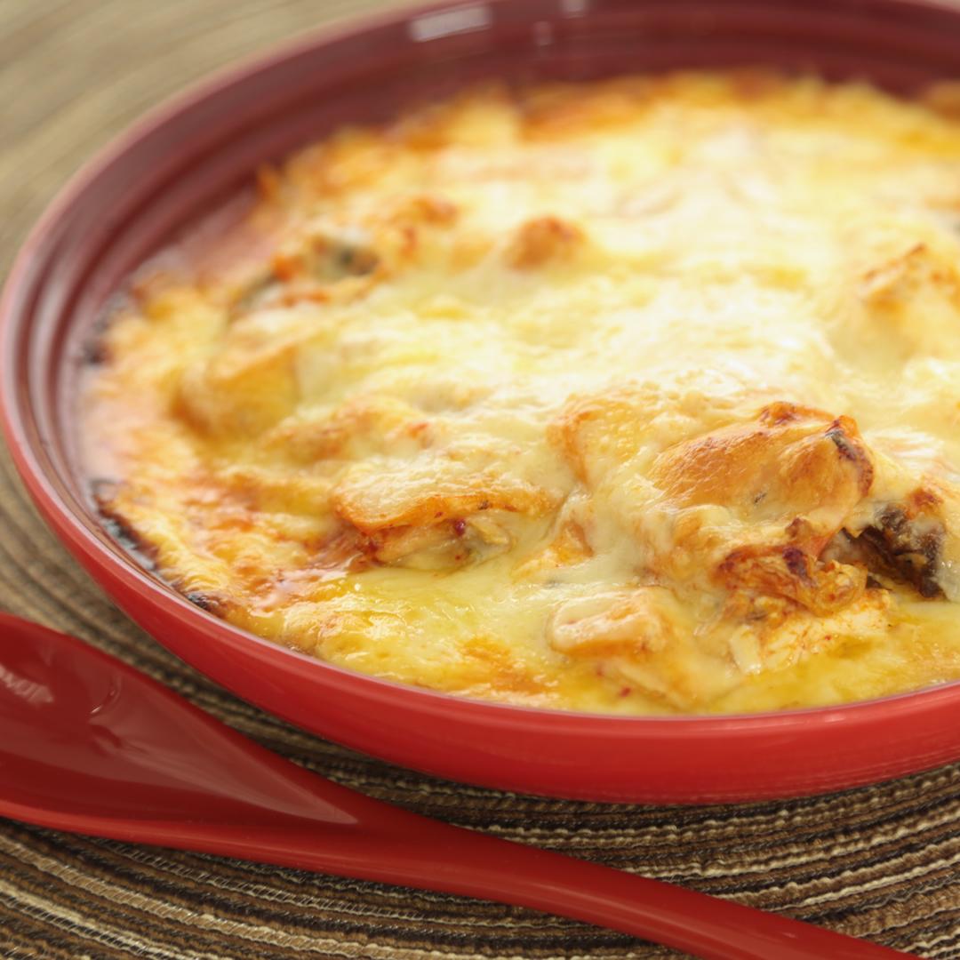 レンジで簡単、15分で完成「サバキムチーズ」@ズボラ飯