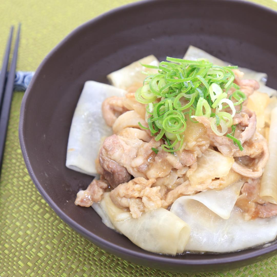 レンジで簡単、7分で完成「豚と大根の温サラダ」@ズボラ飯