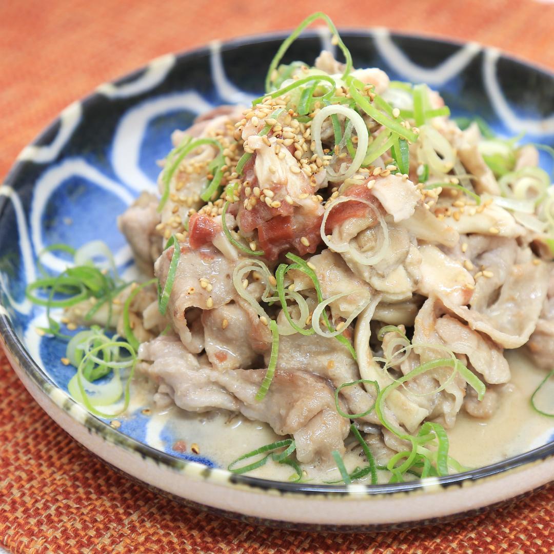 レンジで簡単、7分で完成「豚肉と舞茸の梅マヨネーズ」@ズボラ飯