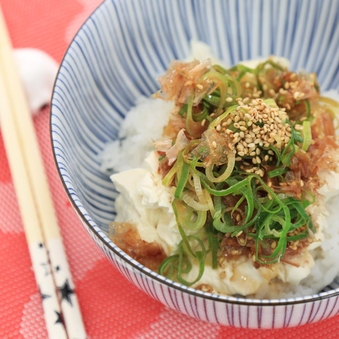 レンジで簡単、7分で完成「豆腐丼」@ズボラ飯