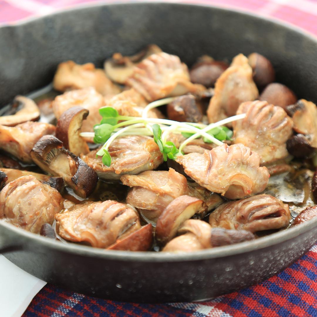 トースターで簡単、20分で完成「砂肝(砂ずり)のニンニクオイル煮」@ズボラ飯