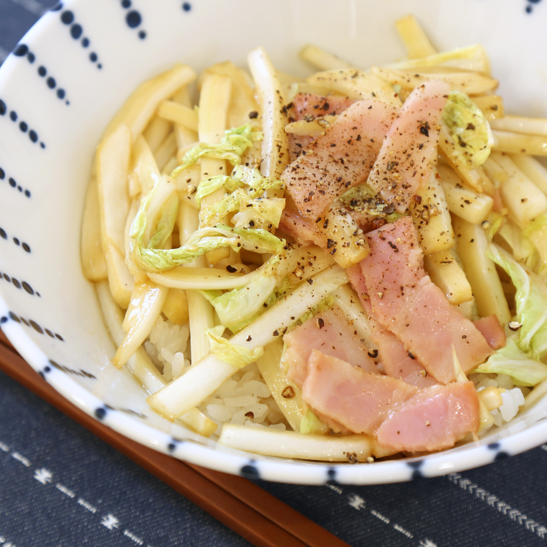 レンジで簡単、5分で完成「白菜丼」@ズボラ飯